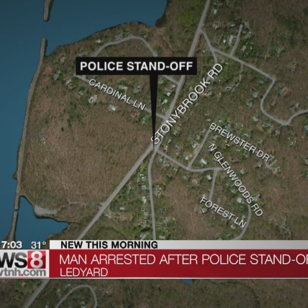 Ledyard man admitted to hospital following six hour standoff