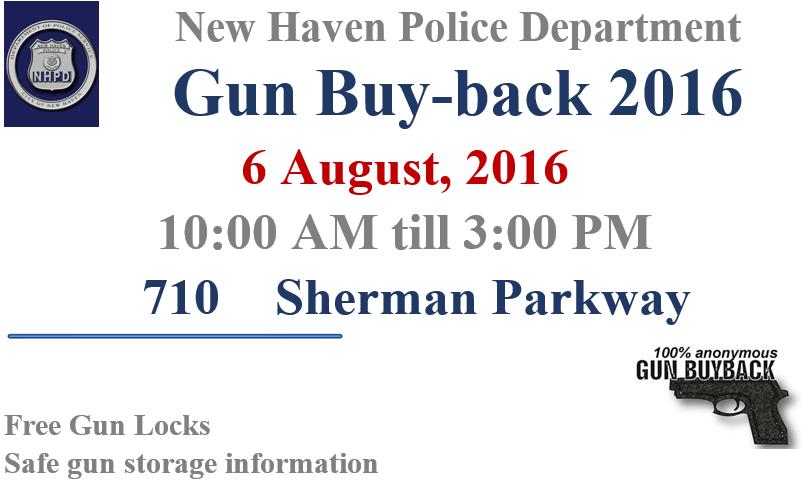 New Haven Gun buy back poster_314253