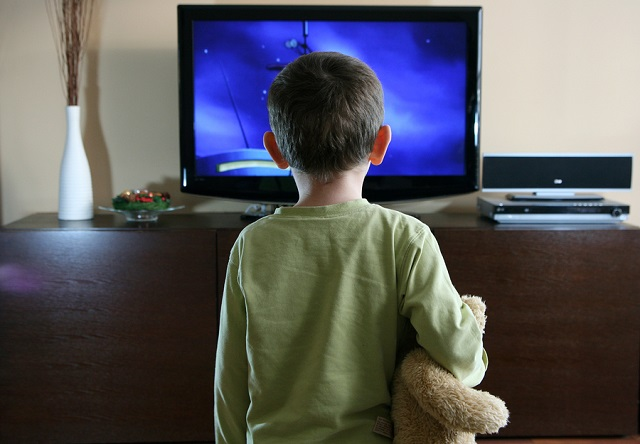 watching TV with sweet teddy bear_347447