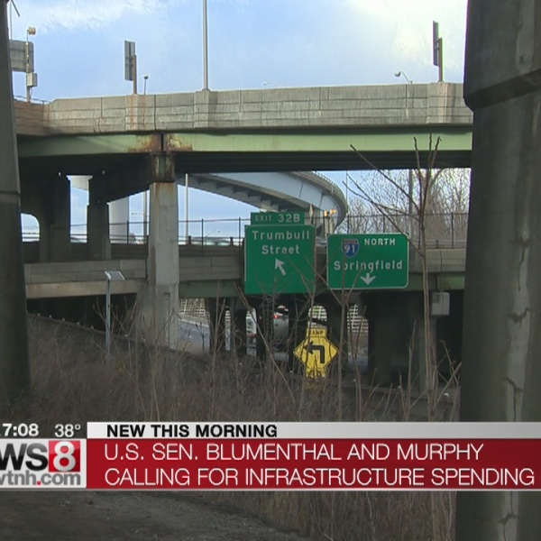 US Sens. Blumenthal, Murphy call for infrastructure spending