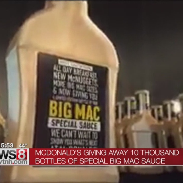 McDonald's to give away 10,000 bottles of special sauce