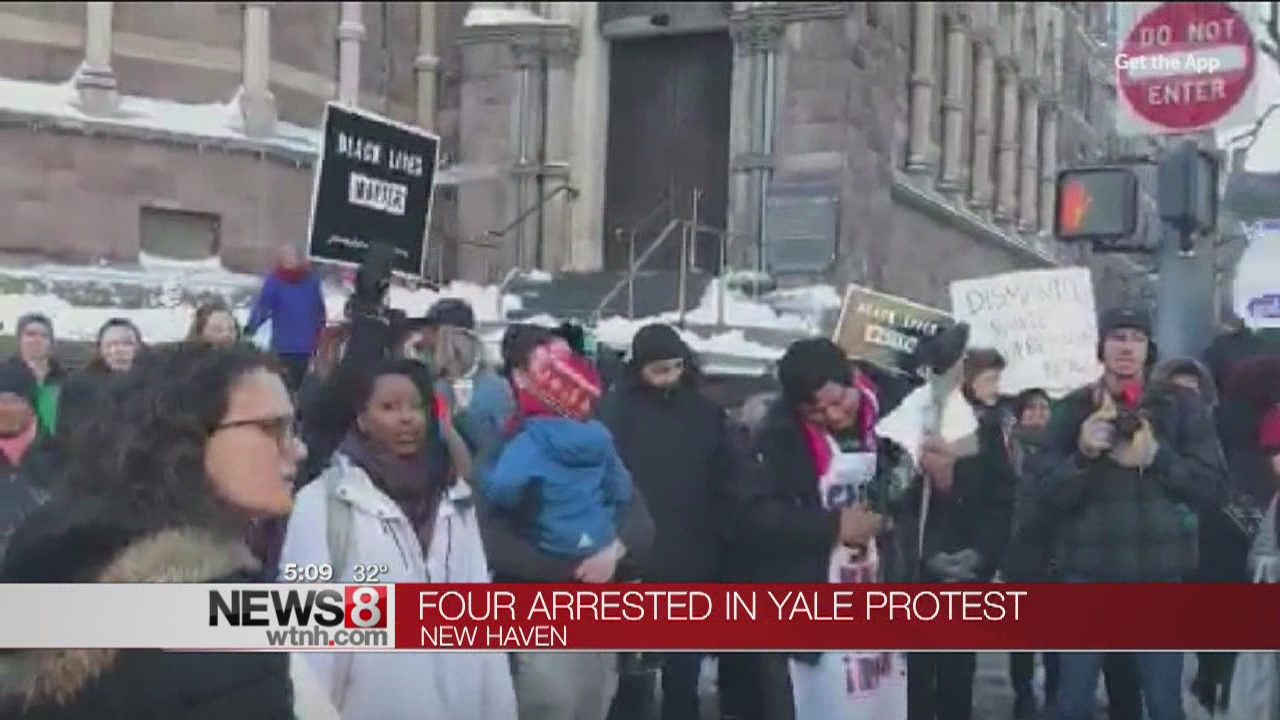 4 arrested in Yale protest