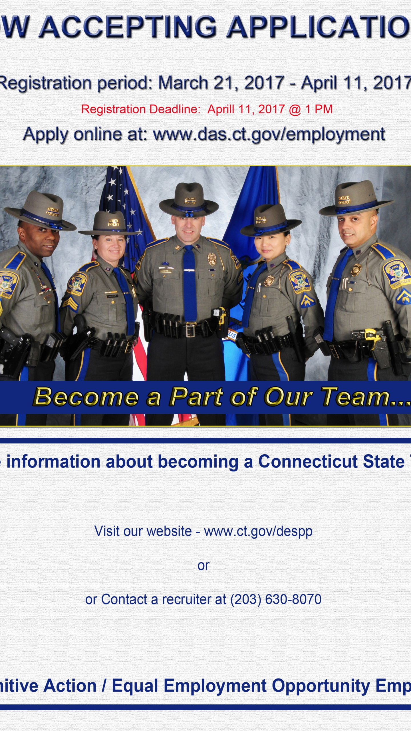State Police Educating People Who Want to Wear a Badge