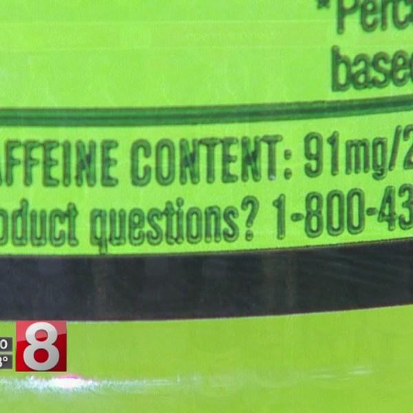 Teen dies from too much caffeine, coroner says