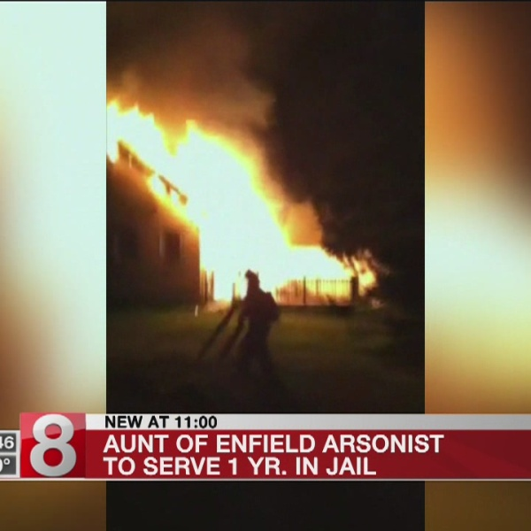 Aunt of convicted arsonist gets a year in prison