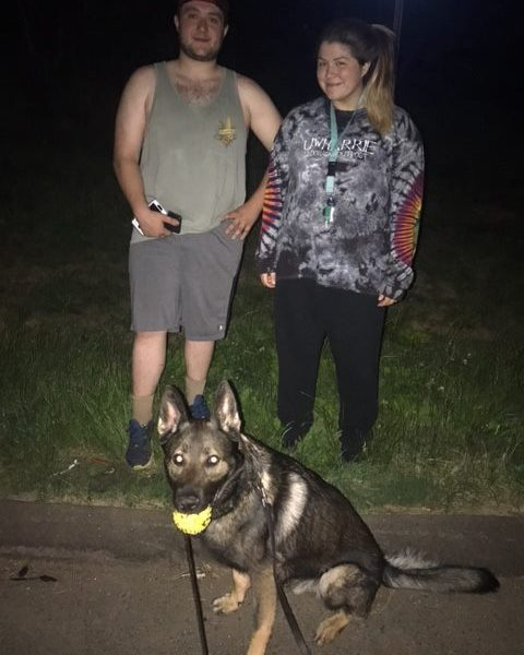 k9 and hikers_479100