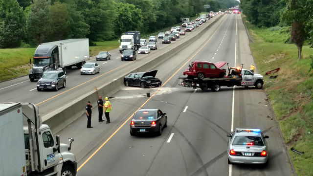 Crash causes delays on I-95 southbound in Madison
