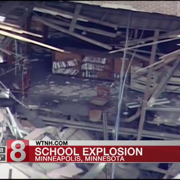 Cleanup begins after 2 killed in blast at Minnesota school