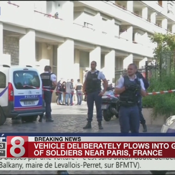 Vehicle hits soldiers in Paris suburb, injuring 6