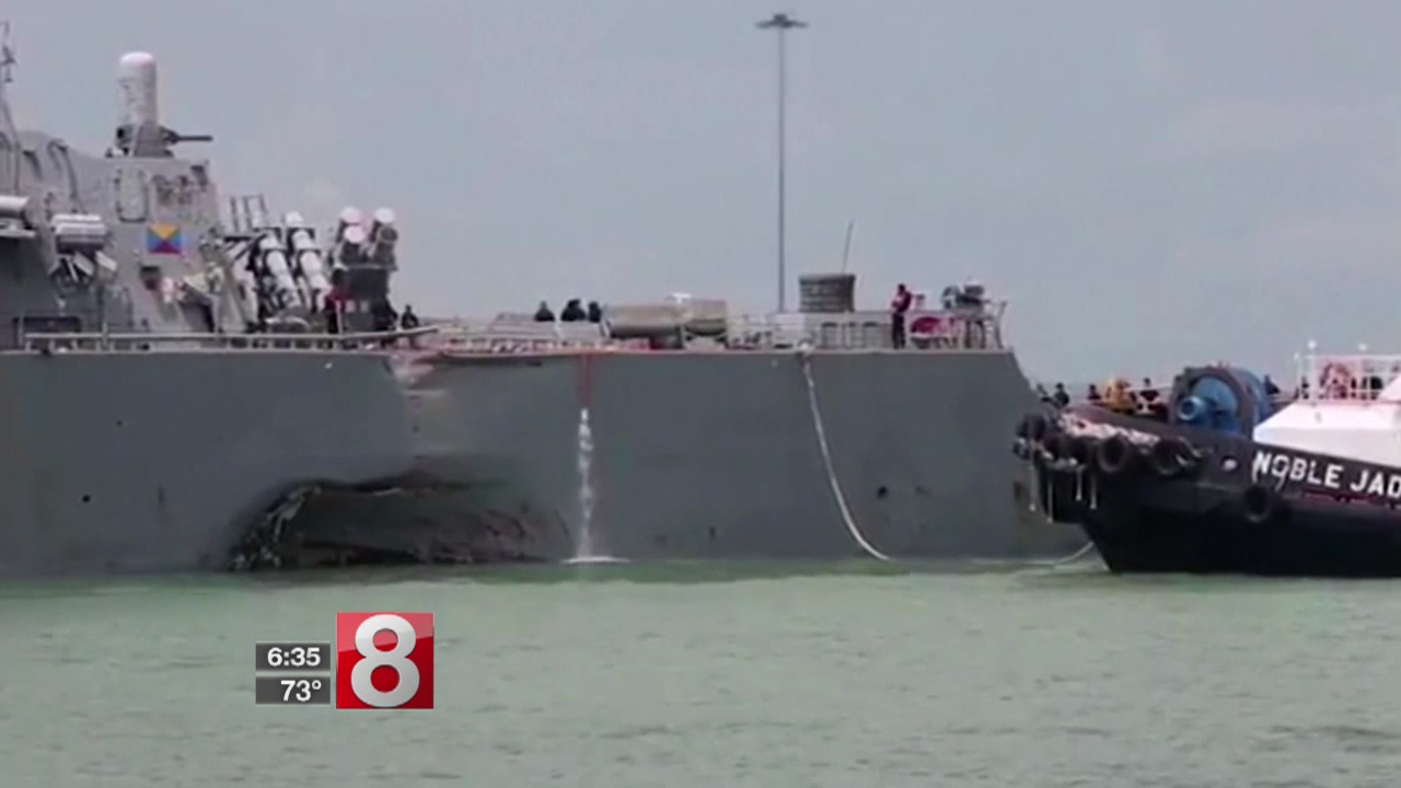 Suffield family awaits word about missing son aboard USS John McCain