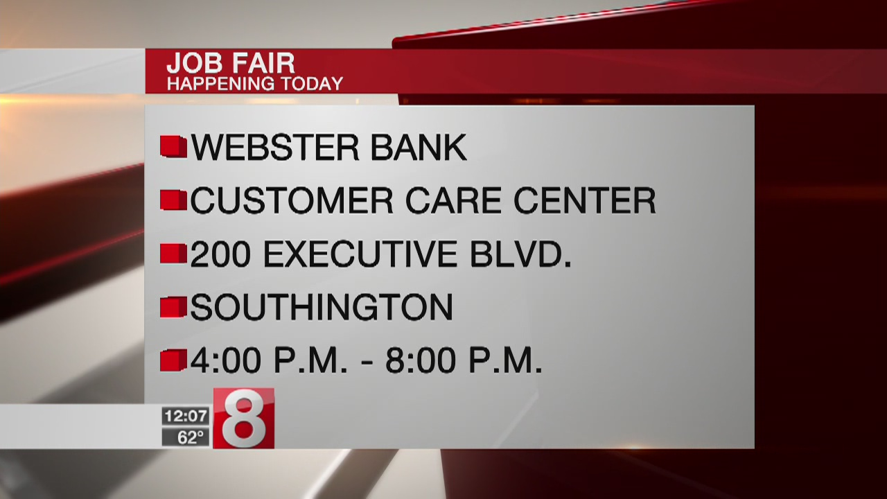 Webster Bank to hold hiring event in Southington