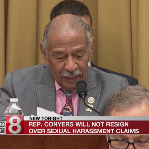 Rep. Conyers will not resign over sexual harassment claims