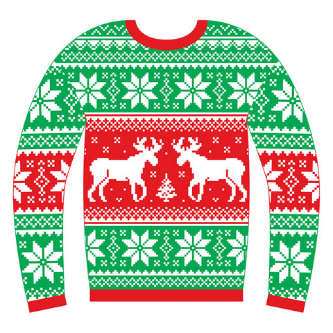 Green Day Christmas Sweater.Ugly Christmas Sweater Day Celebrated Friday