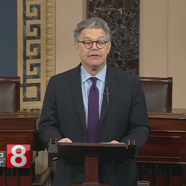 Senator Al Franken announces he will step down; Blumenthal reacts