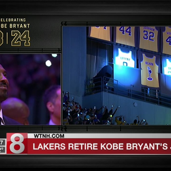Shooting for 2: Lakers retire Kobe Bryant's 8 and 24 jerseys