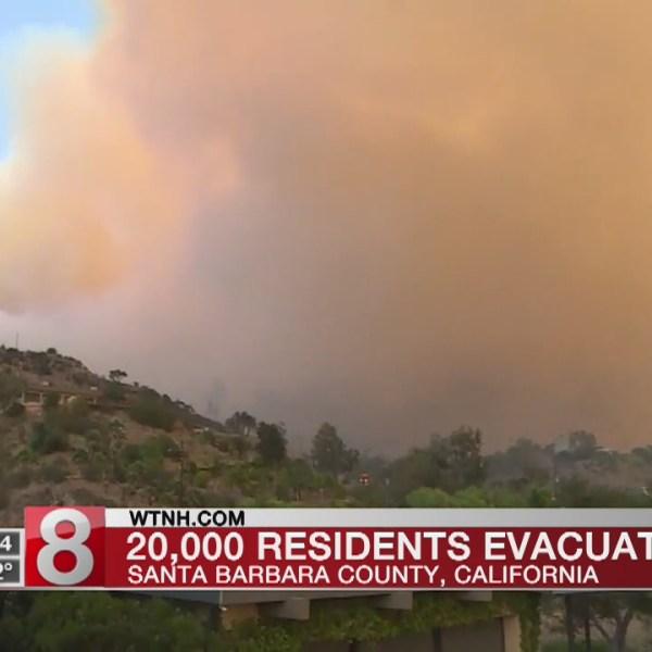 Monster' California fire bears down on Santa Barbara
