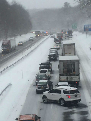 Interstate 395 back open in Norwich after jackknifed tractor trailer