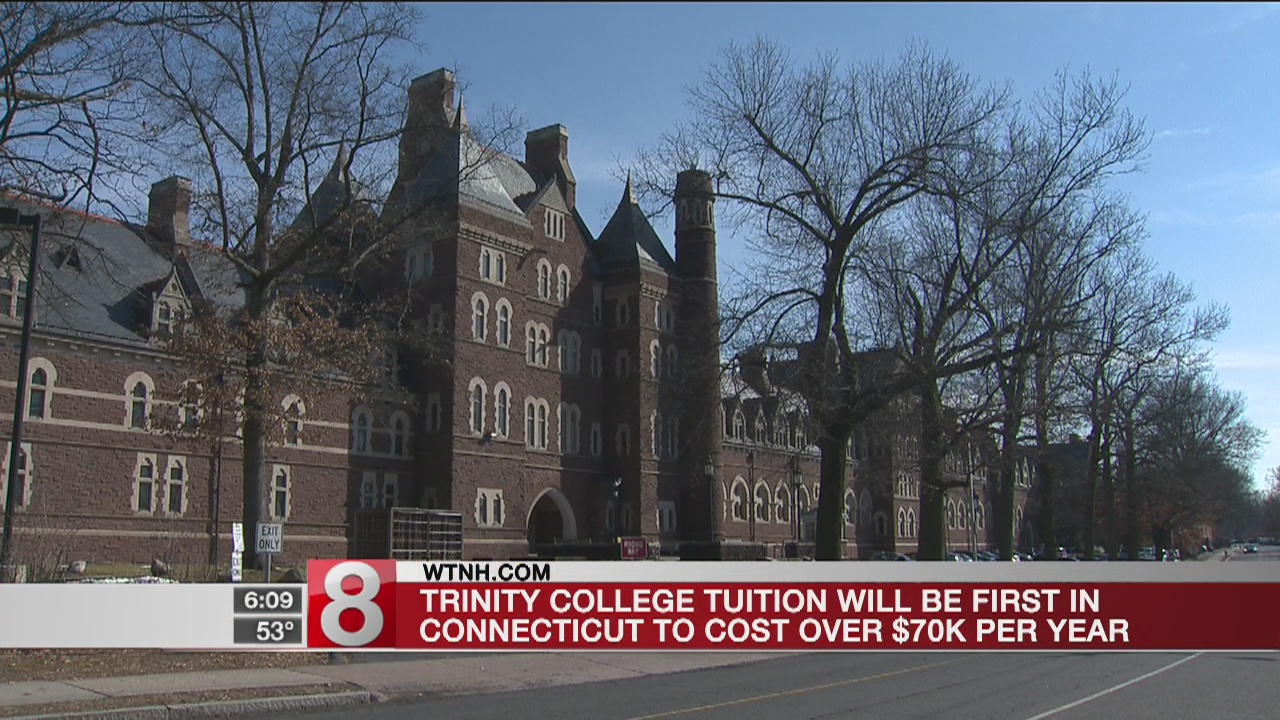 Trinity College costs to rise above $70K per year