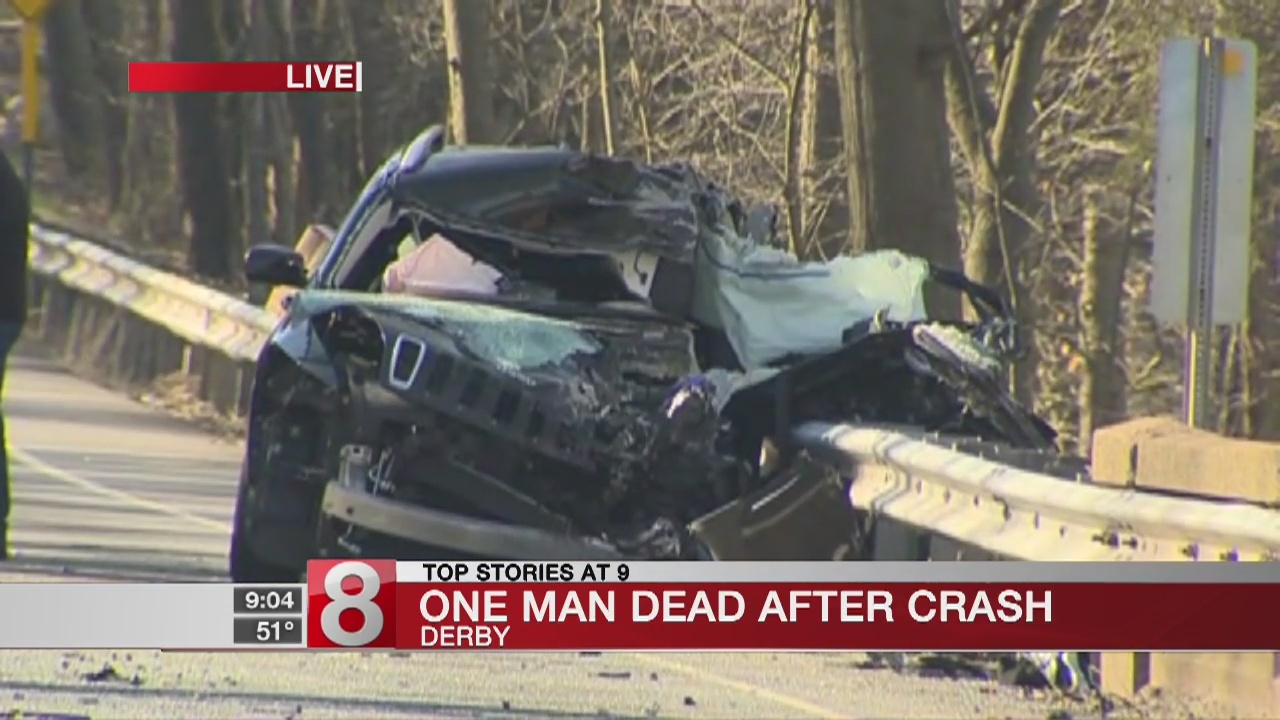 1 dead, 1 injured in Derby crash on Route 34