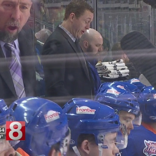 Mic'd up: Sound Tigers coach Brent Thompson during team's win over Providence