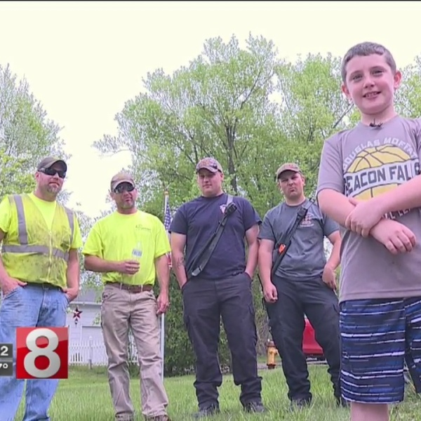 11-year-old organizes cookout for first responders helping Beacon Falls