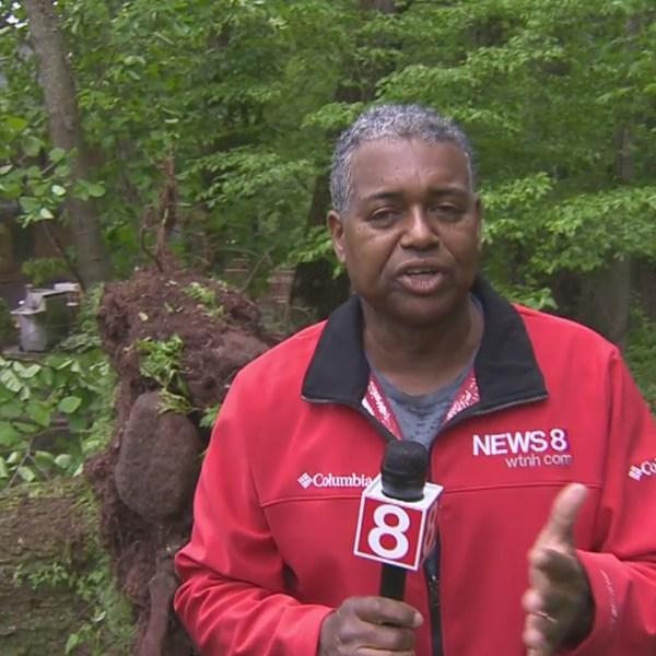 Keith Kountz shows us storm damage from his Hamden neighborhood