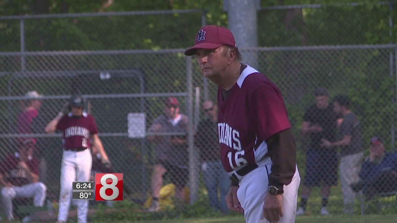 North Haven coach Bob DeMayo wins 900th game as Indians top Amity in SCC tourney, 7-6