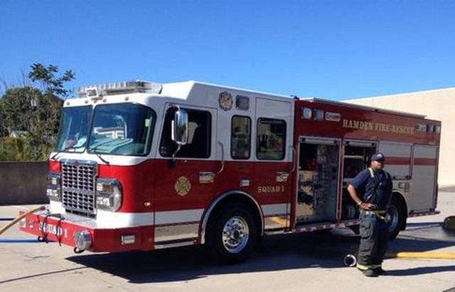 Hamden fire truck engine_150525