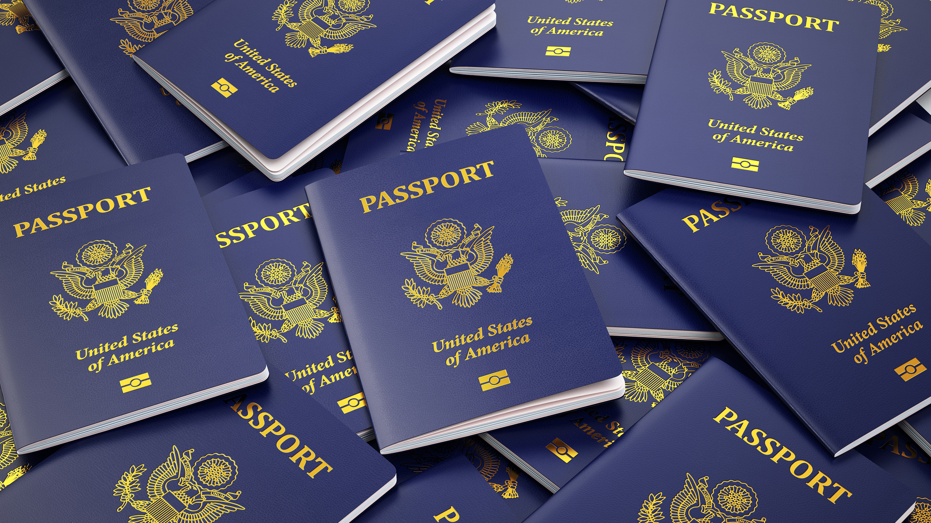 USA passport background. Immigration or travel concept. 3d illus_1526046642177