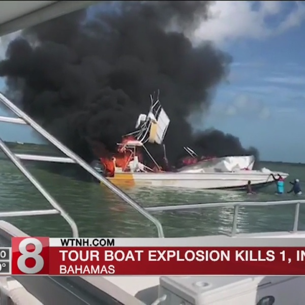 1 dead, 9 injured as tour boat explodes in Bahamas