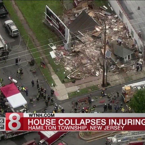 3 people sent to hospital after building collapses in New Jersey