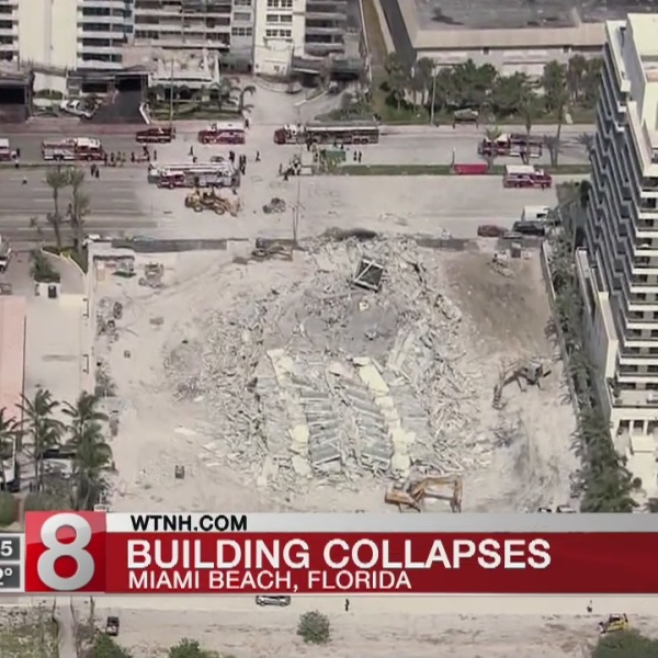Police: 1 injured in building collapse on Miami Beach