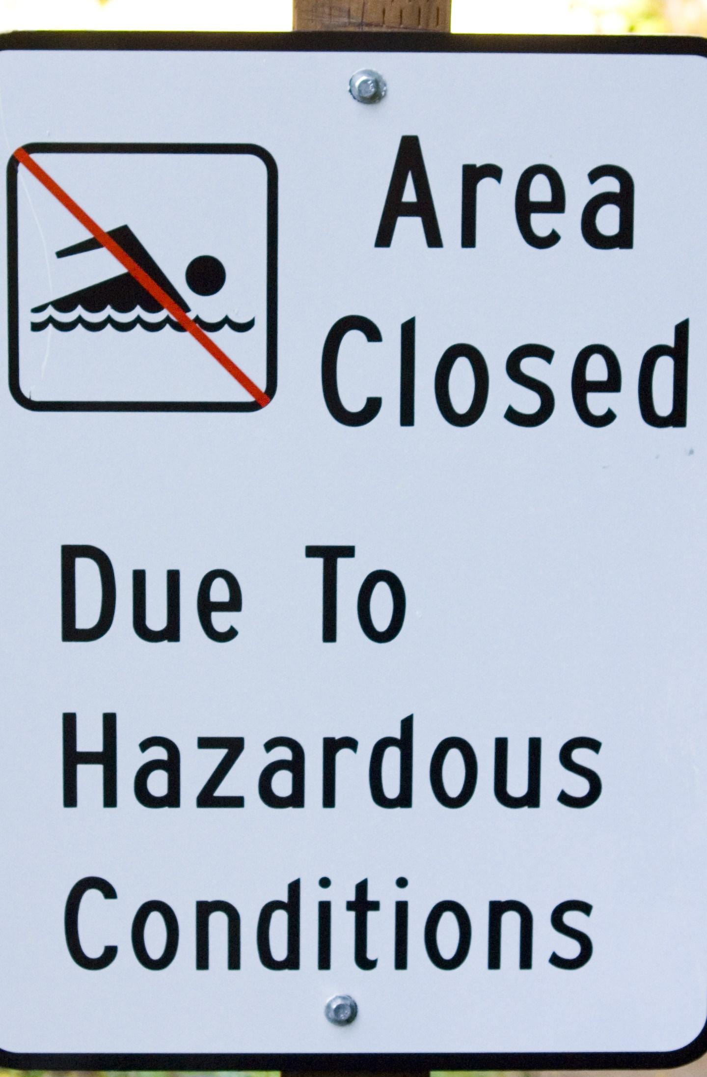 Swimming Area Closed Generic