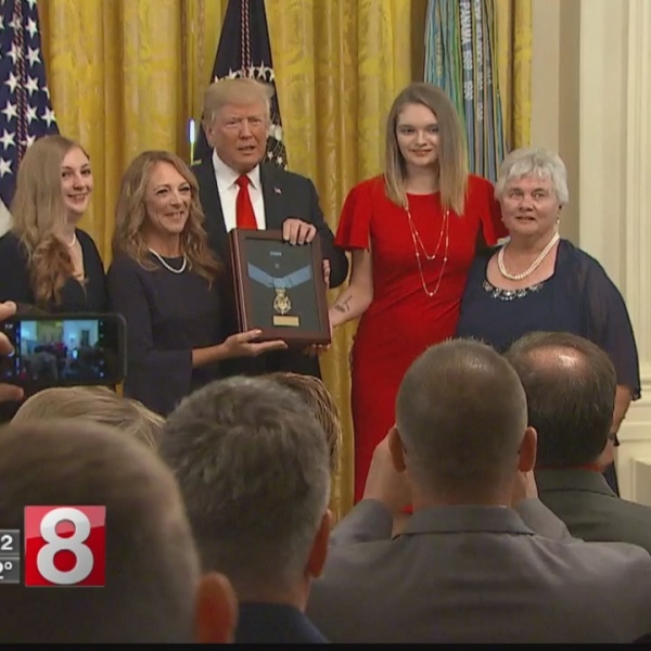 Family, friends of fallen CT Airman in DC for Medal of Honor ceremony