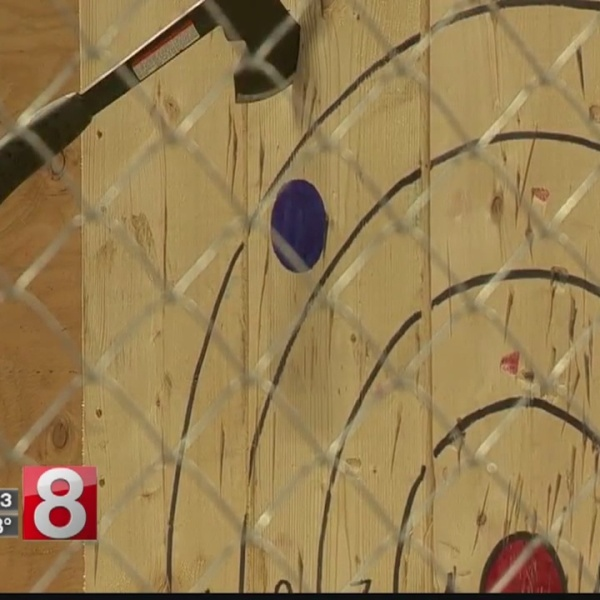 Indoor ax throwing facility opens in Wallingford