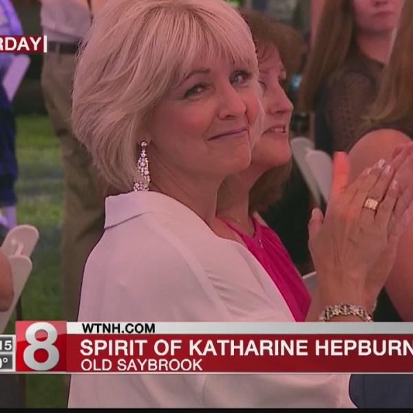 News 8's Ann Nyberg receives the 3rd annual Spirit of Katharine Hepburn Award