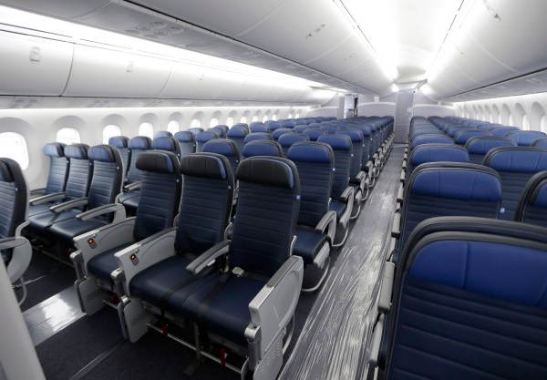 airline cabin seats airplane AP_268114
