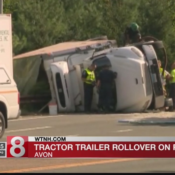 Route 44 west in Avon reopens following crash involving overturned tractor trailer