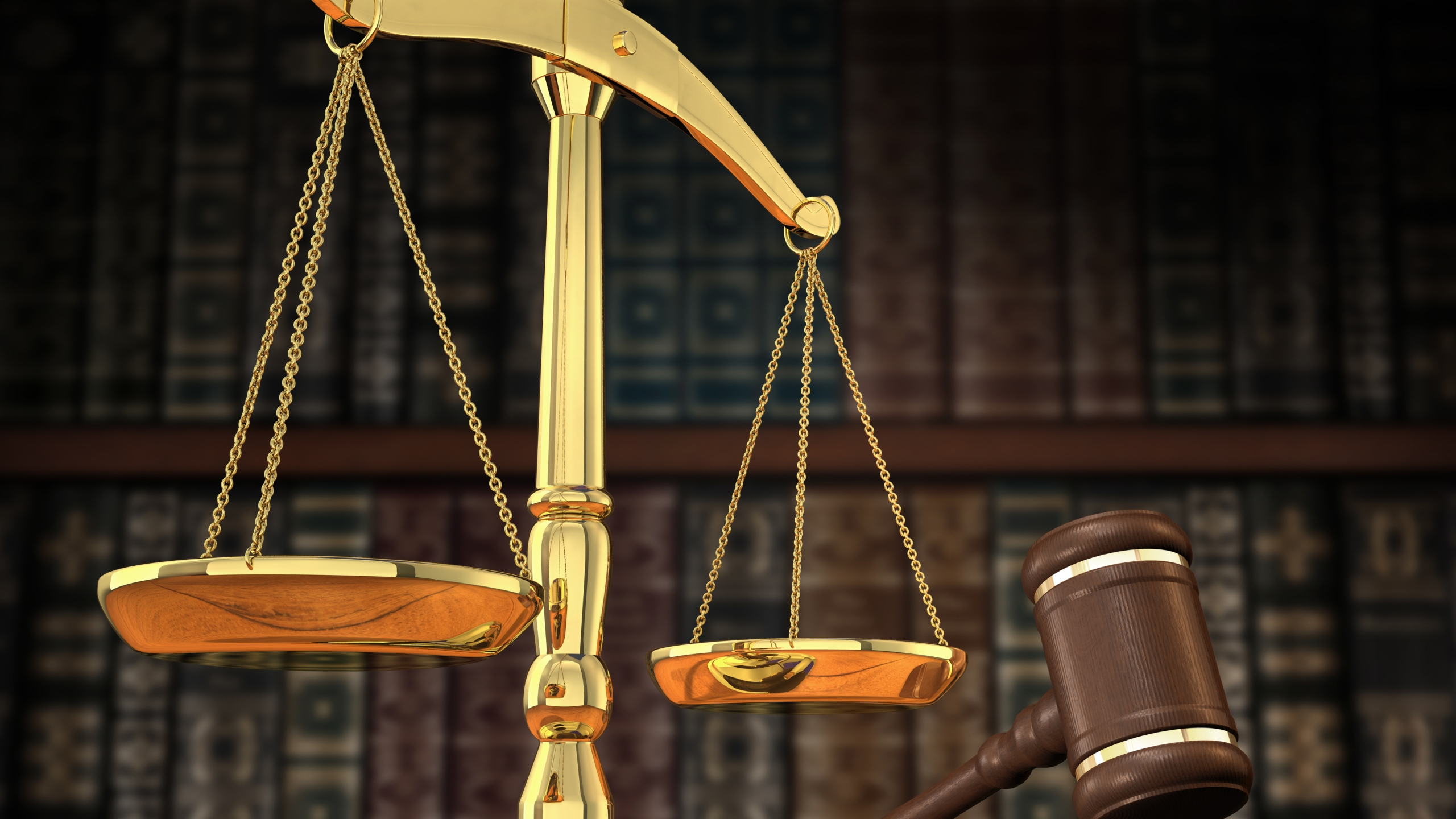 Scales of Justice Gavel Law Legal Court