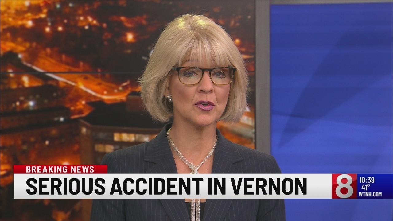Vernon crews responding to serious car accident
