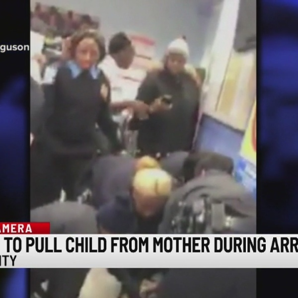 2 officers placed on modified duty after video showing them ripping baby from mother's arms