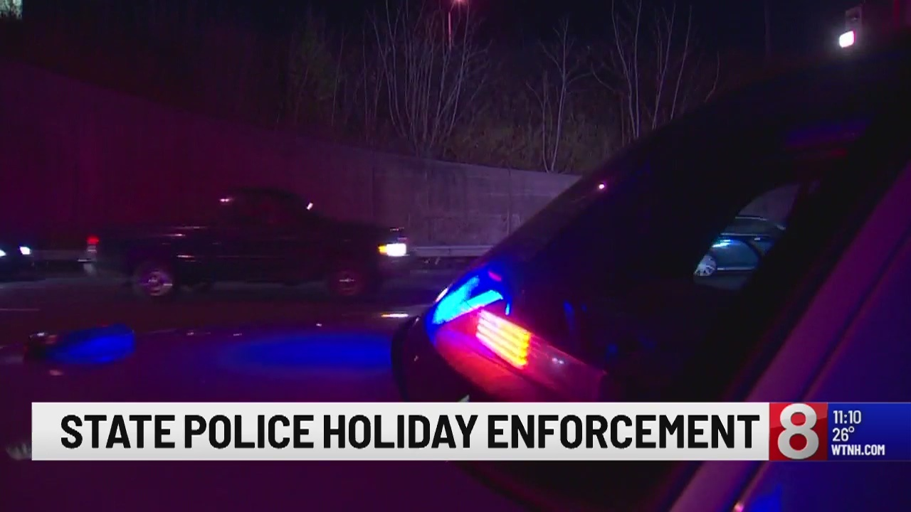 Connecticut State Police issue DUI checkpoints ahead of holidays