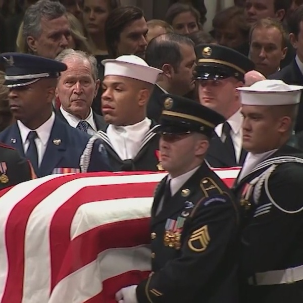 Mother shares son's story as Milford sailor serves as pallbearer for Bush, McCain