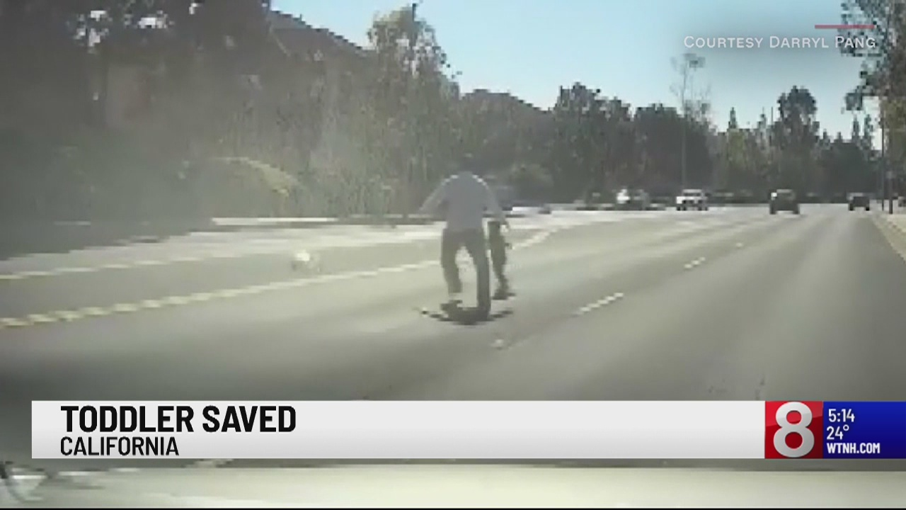 Toddler saved in California