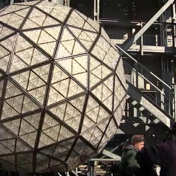 WEB EXTRA: Times Square NYE ball gets 192 new crystals