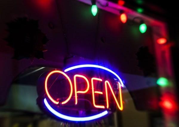 open sign christmas lights holidays holiday season_216792