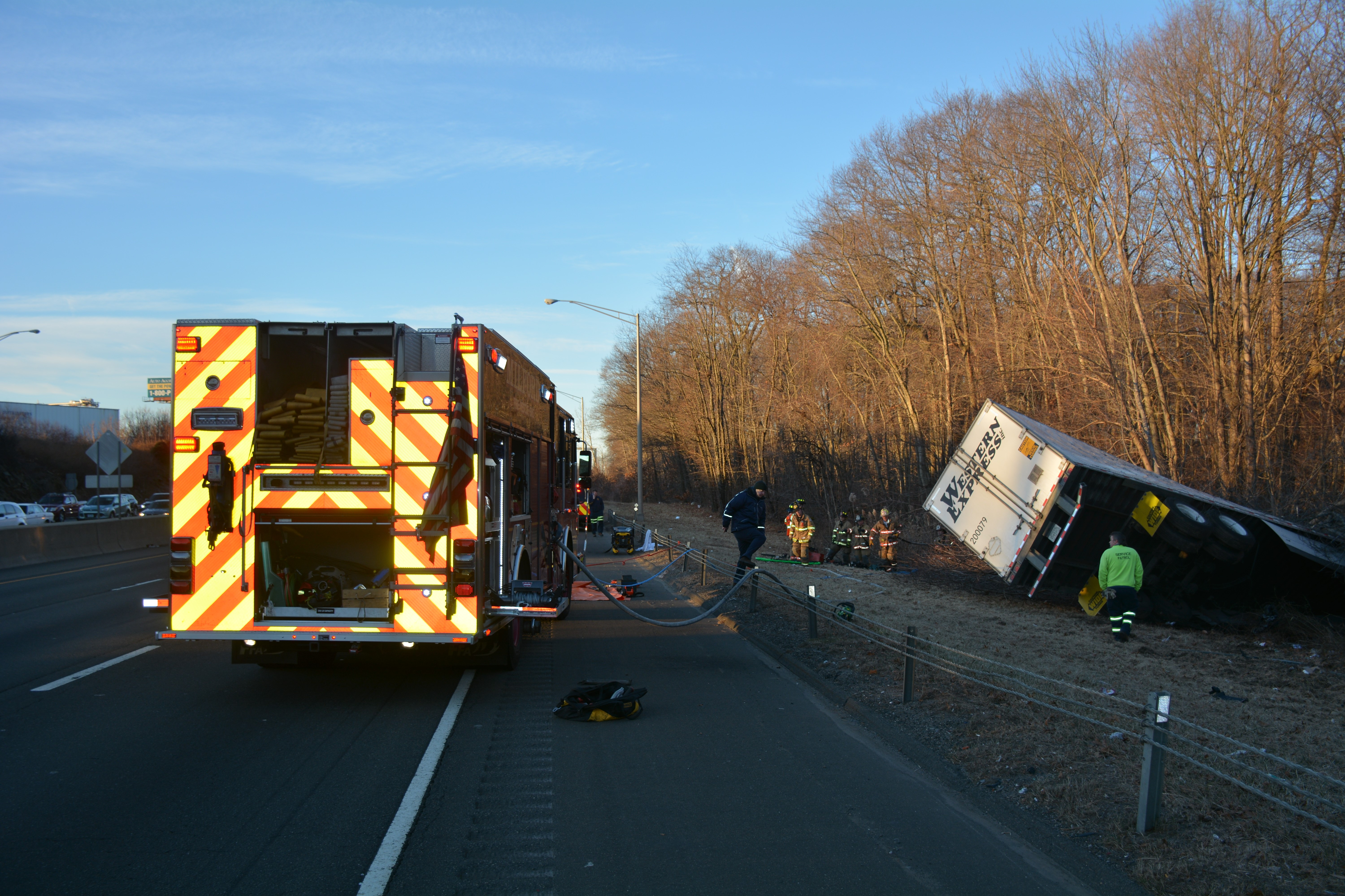All lanes of Interstate 95 south in Milford back open