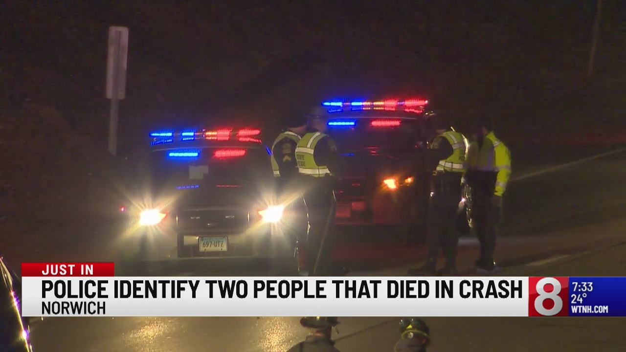 2 dead in crash on I-395 in Norwich, victims identified