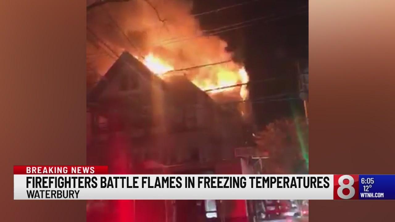 Fire rips through Waterbury home