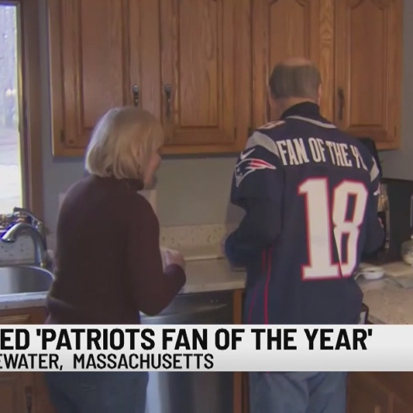 Longtime Patriots season ticket holder honored as fan of the year